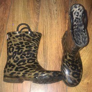 Other - Cheetah Print Rainboots